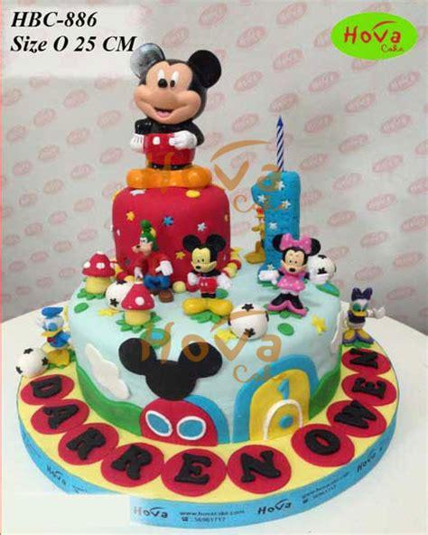 Cake Banner Mickey Mouse Miki Hiasan Ulang Tahun Kue Tar Anak mickey mouse and friends birthday cake pesan kue selamat ultah mickey mouse dan kawan toko