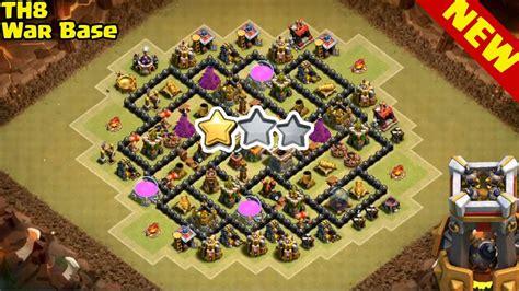 coc war base th8 hd clash of clans th8 war base bomb tower anti 2 star