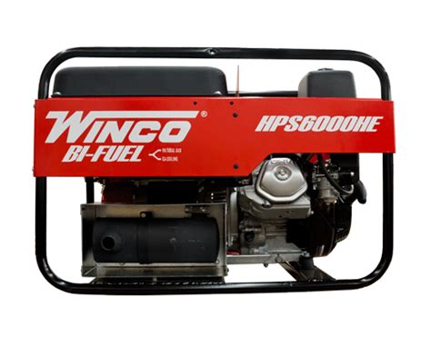 winco bi fuel generator 6000 watt honda electric start