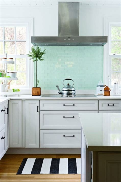 shorely chic blue glass subway tile