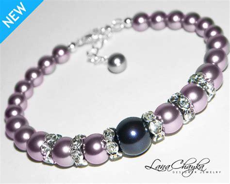 how to make swarovski jewelry mauve light purple pearl bracelet purple pearl wedding