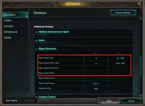 how to your to attack on command how can i switch my attack button on league of legends arqade