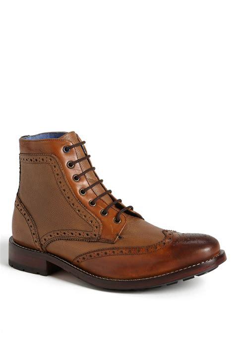 mens wingtip boots sale ted baker sealls wingtip boot in brown for lyst