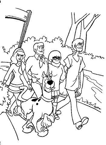 Scooby Doo Coloring Page Tv Series Coloring Page Picgifs Com