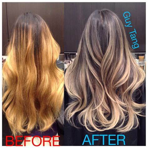 before vs after colour correction i did on my client ombr 233 color correction by guy tang yelp
