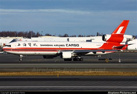 b 2179 shanghai airlines cargo mcdonnell douglas md 11f at anchorage ted intl