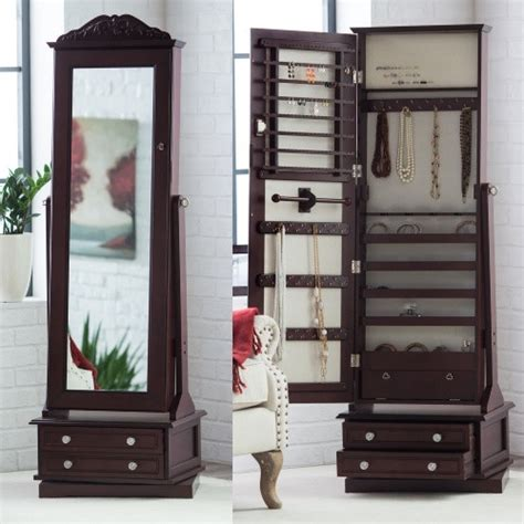 espresso jewelry armoire cheval mirror video