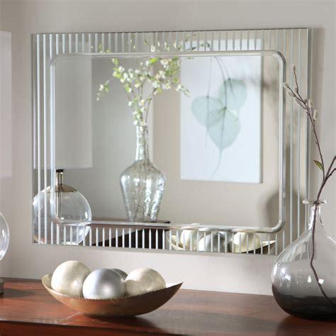 bathroom mirror decorating ideas d 233 cor frameless deco wall mirror 23 5w x 31 5h in mirrors at hayneedle