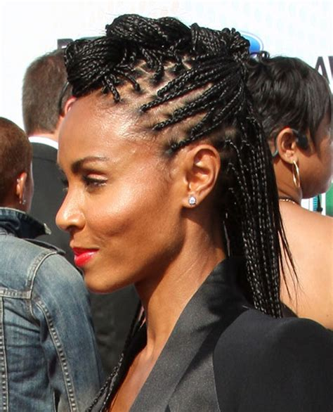shave mohawk with braid braided mohawk hairstyles with shaved sides pictures