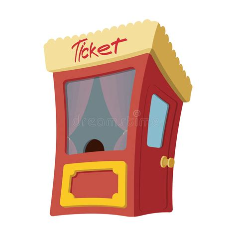 cartoon box office stock vector illustration