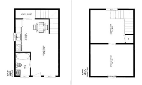 Home Design 7 X 10 by 10 X 20 Cabin Floor Plans 10 X 20 Cabin Floor Plans 16 X