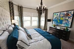 blue bedroom curtains ideas moorish tile curtains contemporary bedroom studio ten 25