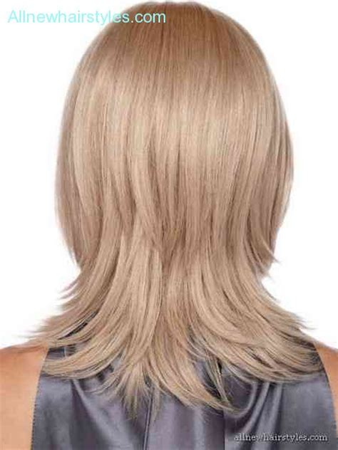 medium layered haircuts back view gallery casual medium thick hair back view best 25