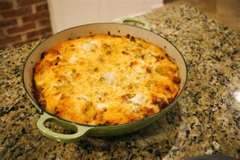 egg strata casserole sausage egg strata at home with natalie