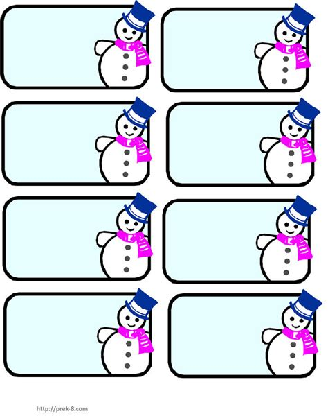 printable name tags for pre k snowman name tags winter wonderland pinterest
