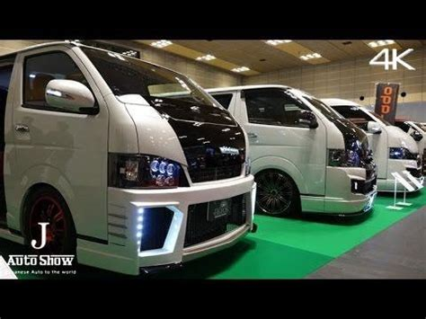 Japanese Style Interior by 4k Modified Toyota Hiace Booth Osaka Auto Messe 2016