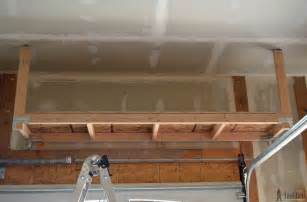 Building Shelves In Garage From Ceiling by Suspended Garage Storage Diy Done Right