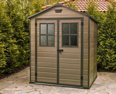 Plastic Garden Sheds 6 X 8 by Keter Scala 6x8 Shed 1 8mx2 2m 1 269 00 Landera Outdoor Storage Sheds And Greenhouses