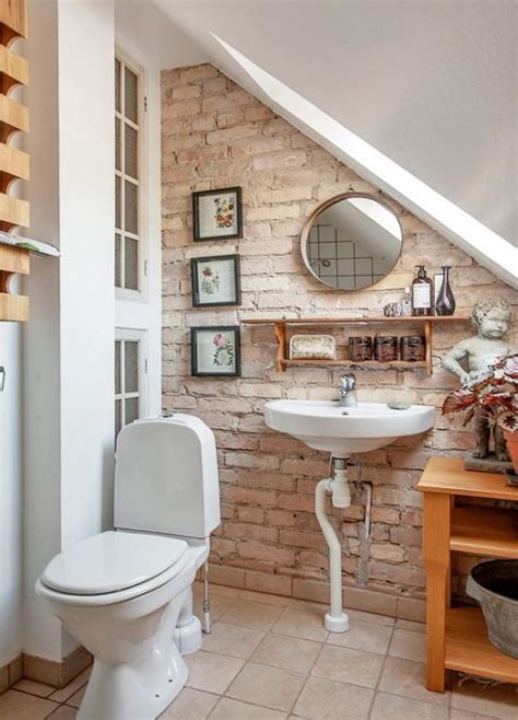 half bathroom designs brick tiles home interiors 33 bathroom designs with brick wall tiles ultimate home