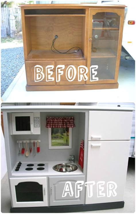 play kitchen reinvented from old furniture for my best 25 old tv stands ideas on pinterest tv table stand