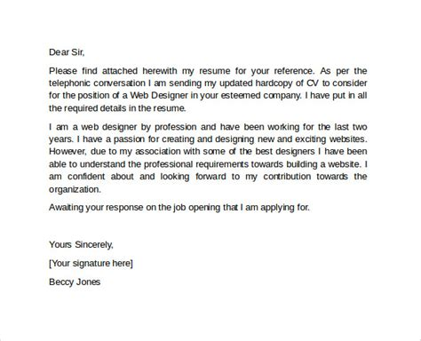 sle professional cover letter template 10 download