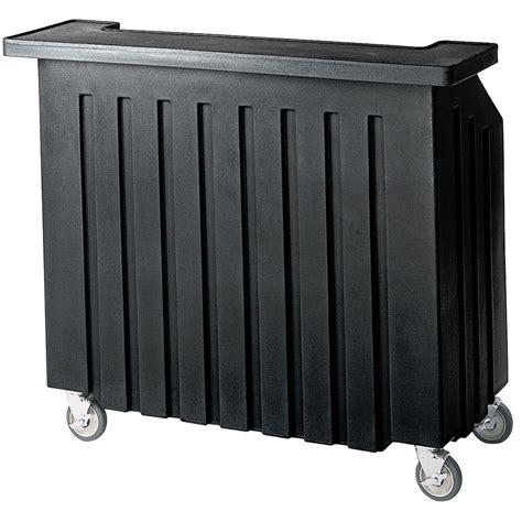 cambro black small portable bar indoor outdoor bar