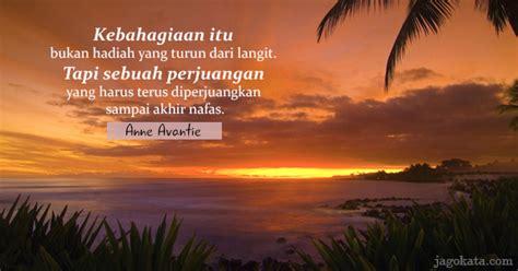 avantie kebahagiaan itu bukan hadiah yang turun dari langit tapi sebuah perjuangan yang