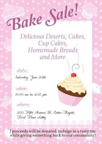 bake sale flyer template free bake sale banner template www pixshark images galleries with a bite