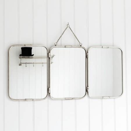 wall mount vanity mirror tri fold wall mirror bathroom