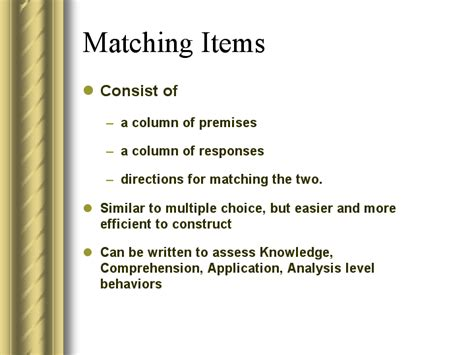 pattern recognition multiple choice questions image gallery matching items