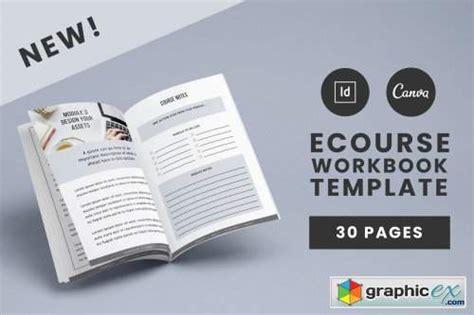 ecourse workbook template   vector stock