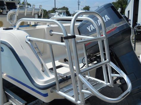 boat ladder holder blue coral sport fishing towers ladders and platforms