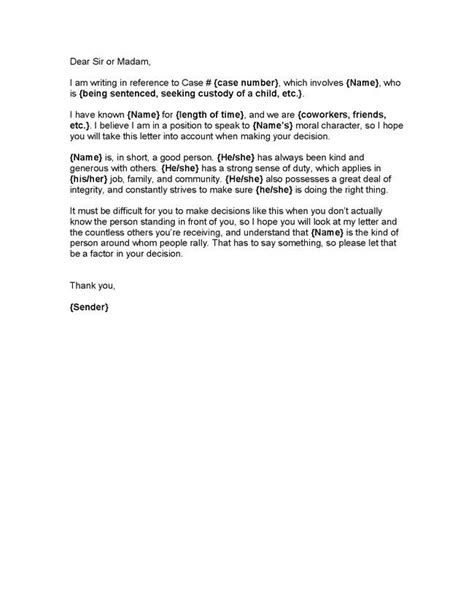 Character Letter To Judge For Dui sle character reference letter to judge for dui