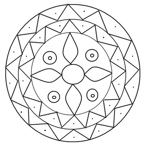 color pattern ideas rangoli design coloring printable page for kids 2 mosaic