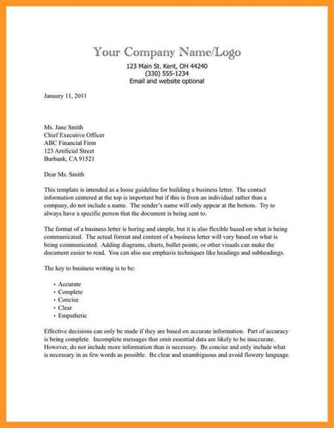 Business Letter Format Template Word Bio Letter Format Business Letter Template Word