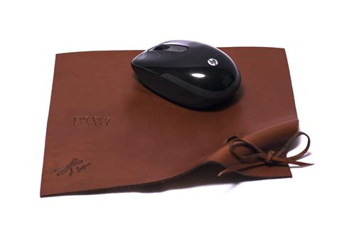 Handmade Mouse Pad - leather mousepad leather mouse pad leather mat custom