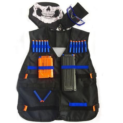 Nerf Vest nerf tactical vest jacket kit 16 darts mask reload