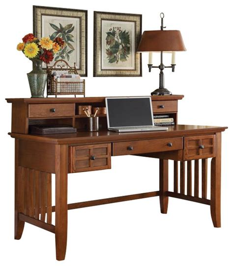 Arts And Crafts Desks by Home Styles Arts And Crafts Executive Desk And Hutch