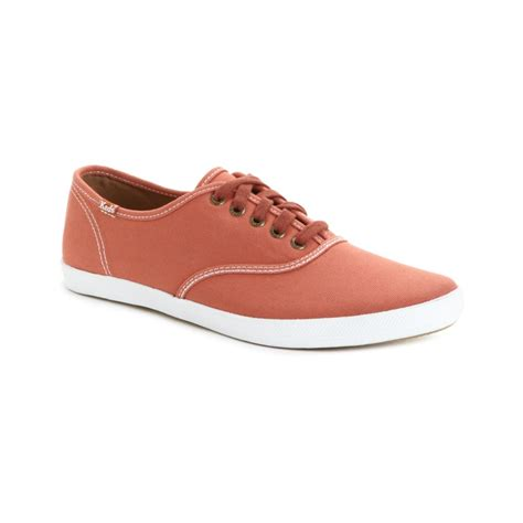 canvas sneakers mens keds chion canvas original sneakers in orange for