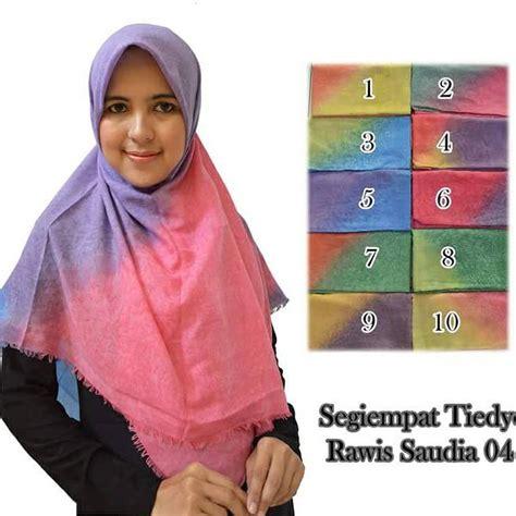 Jilbab Square Saudia Jilbab Segiempat Katun Rawis jual jn jilbab segiempat tiedye rawis saudia meine waroeng murah ok