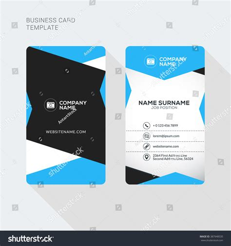 Business Card Clean Template Design Illustrator by Modern Creative And Clean Two Sided Business Card Template
