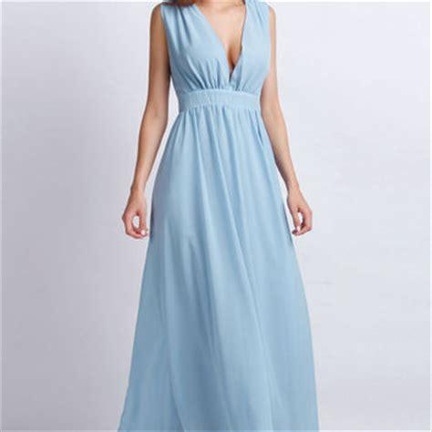 white v neck cutout back chiffon maxi dress casual dresseswomen light blue plunging v neck back cut out from opal apparel