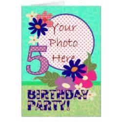 5 year birthday cards zazzle