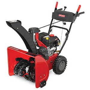 Craftsman 24 quot 208cc dual stage snow blower sears
