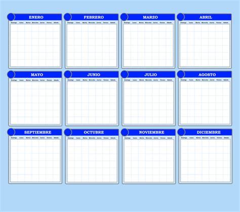 Calendario Anual Calendario Anual Plantilla 2 By Elcazador65 On Deviantart