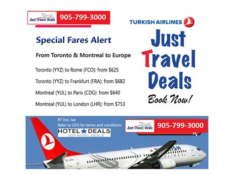 turkish airlines cheap tickets to europe montreal and toronto departures