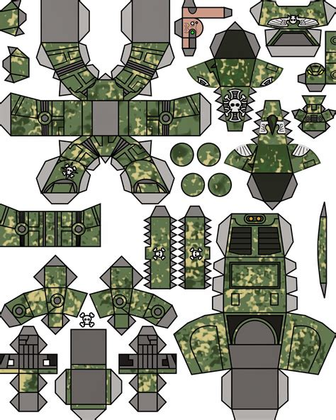 Papercraft Miniatures - the all craft warhammer 40k papercraft