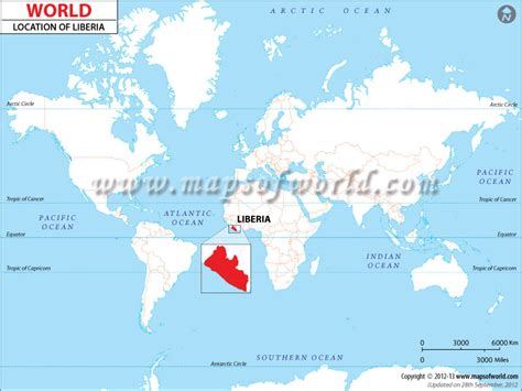 where is liberia located on the world map where is liberia location of liberia
