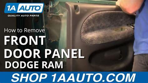 remove front door panels   dodge ram youtube