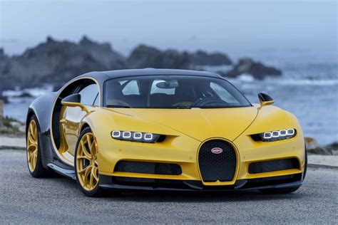 yellow bugatti bugatti delivers unique yellow chiron to customer in